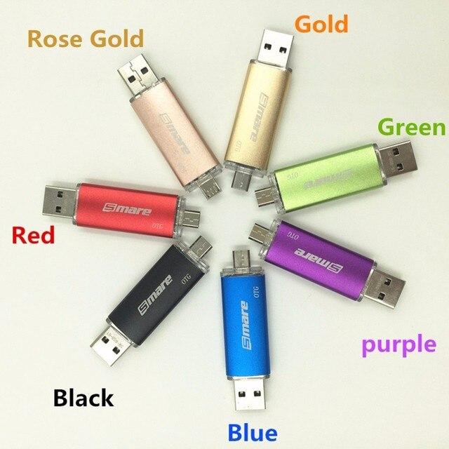 Smare otg Pendrive USB Flash Drive Smartphone 4GB/8GB/16GB32GB/64GB Pen Drive USB 2.0 Flash Drive for smart phone