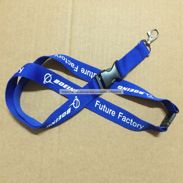 Gift Logo Print Promotion Royal Blue Lanyards Black Quickley Released Safety Buckle Neck Lanyards Strap 100pcs/Lot