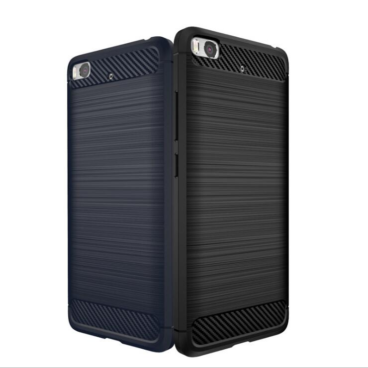 Case for Xiaomi 5S Mobile Phone Bag Carbon Fibre Brushed TPU Smart Phone Cases for Xiomi Mi 5 s Cover Shell