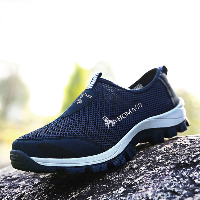 New 2018 Summer men sneakers high quality breathable flat shoes for men casual shoes light summer shoes size 39 -44
