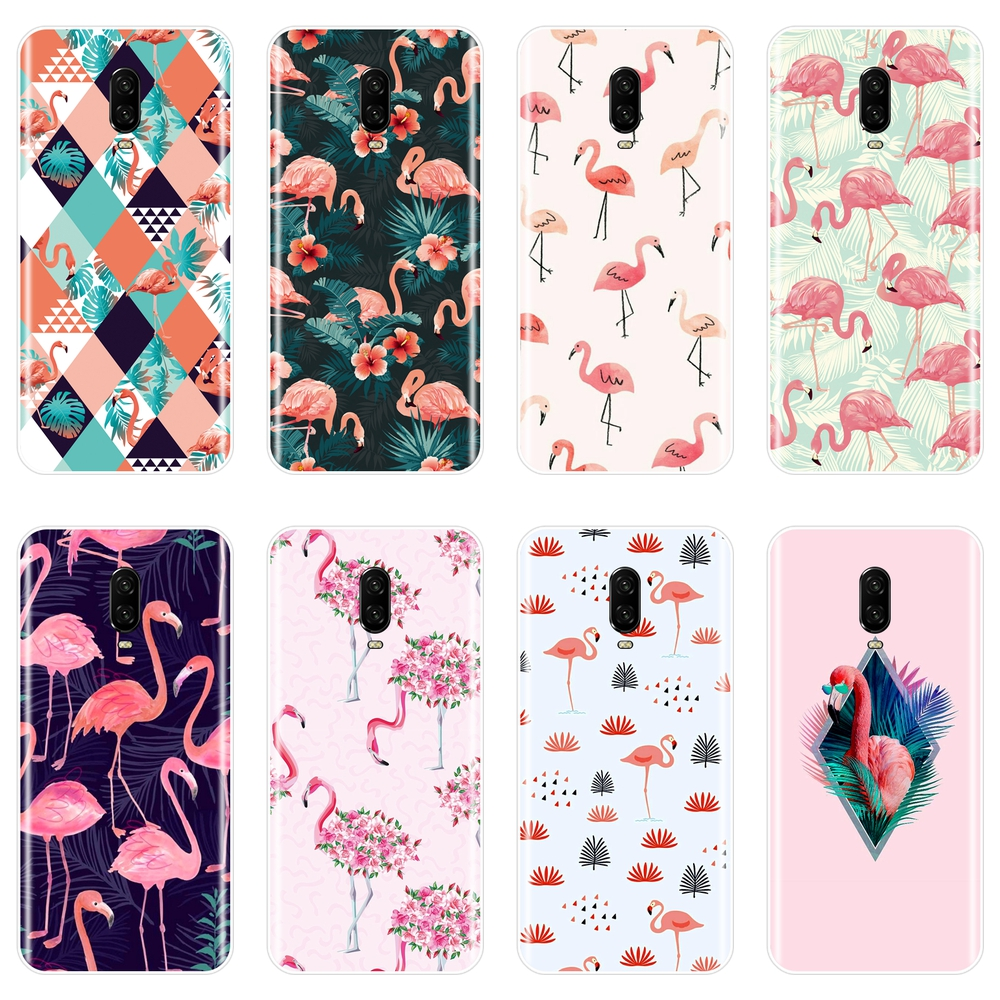 Fashion Flamingo Phone <font><b>Case</b></font> For <font><b>OnePlus</b></font> 3 3T 5 <font><b>5T</b></font> 6 6T Plus <font><b>Silicone</b></font> Soft Back Cover For One Plus 3 3T 5 <font><b>5T</b></font> 6 6T <font><b>Case</b></font> image