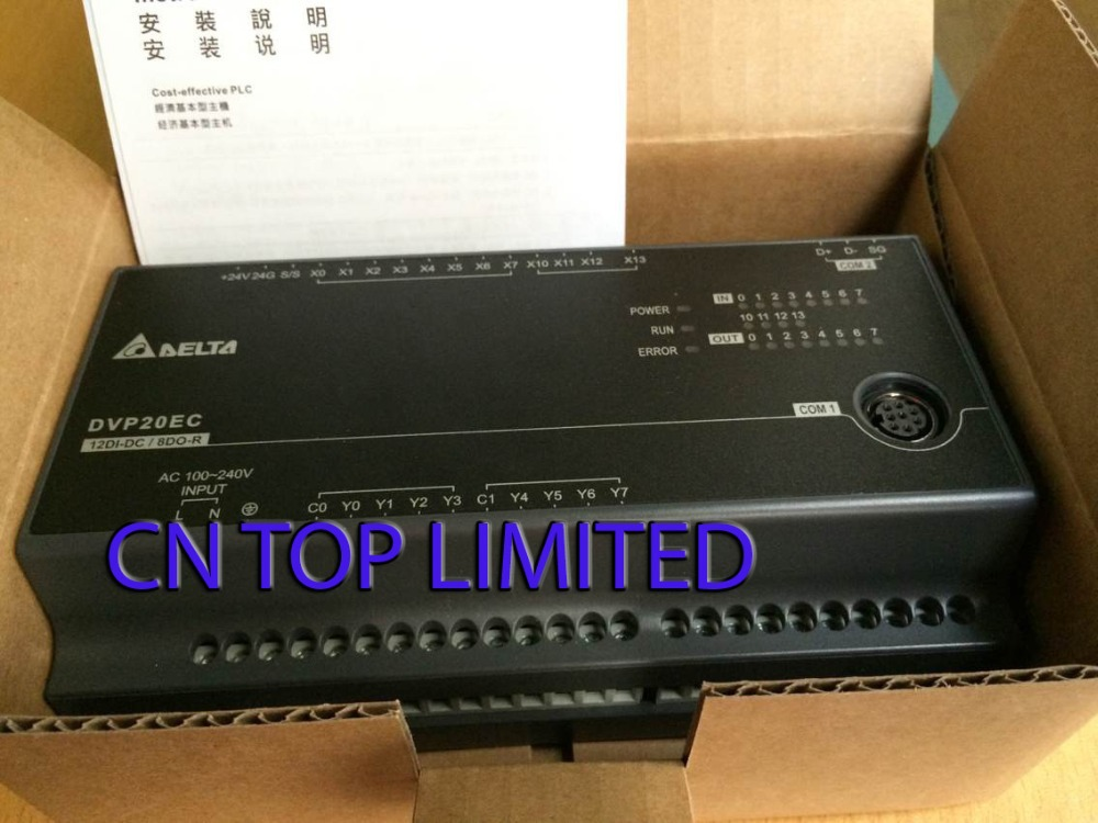 DVP20EC00R3 Delta EC3 Series Standard PLC DI 12 DO 8 Relay 100-240VAC new in box new original dvp20ec00r3 delta plc ec3 series 100 240vac 12di 8do relay output