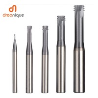 1pc carbide alloy 3 tooth coated M1.0 M12 thread end mills cnc threading milling cutter tool for ISO metric thread