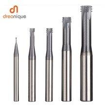 Outil de coupe pour filetage métrique, alliage de carbure de tungstène 3 dents revêtement de filetage M1.0 M12