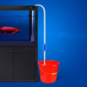Fish Tank Aquario Cleaning Tools Electric Gravel Cleaner Filter Siphon Vacuum Water Change Washer Pump Aquarium Accessories(China)