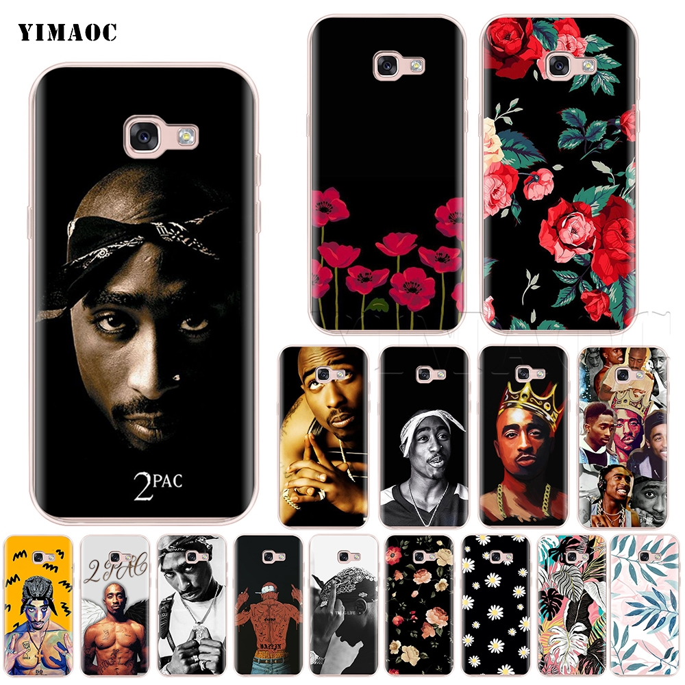 YIMAOC 2Pac Tupac Shakur Silicone Case for Samsung Galaxy S7 S8 S9 Edge Plus J3 J5 J7 A5 A6 A8 Note 8 9