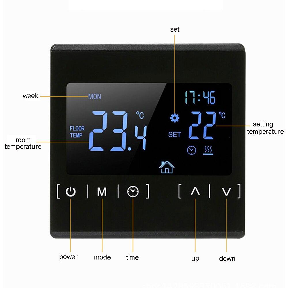 110 в 120 в 220 В программируемый температурный контроллер теплый пол WiFi термостат с датчиком