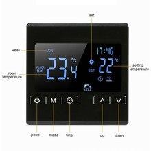 Termostato morno do assoalho wifi do controlador de temperatura programável de 110v 120v 220v com sensor