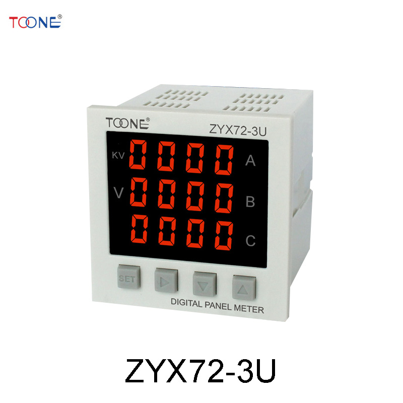 все цены на  Digital intelligent AC phase digital voltmeter ZYX72-3U / SX72 * 72 Digital Power Meter  онлайн