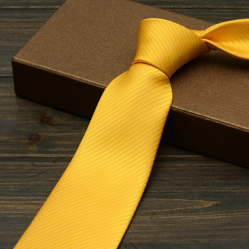 MENS GOLD NECK TIE CLASSIC PLAIN NECKTIE 10cms TIES NECKTIE WEDDING GROOM