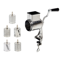Rotary Grater Food Mills Nut Grinder With 5 Drum Blade for Cheese Grating and Nuts Grinding Vegetable Shredding Fruits Slicer