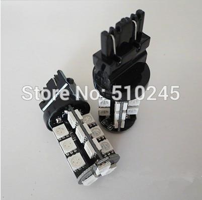 10x high quality t25 12v 3157 27 SMD 5050 CANBUS OBC No Error Signal Car 27 LED Light Bulb free shipping