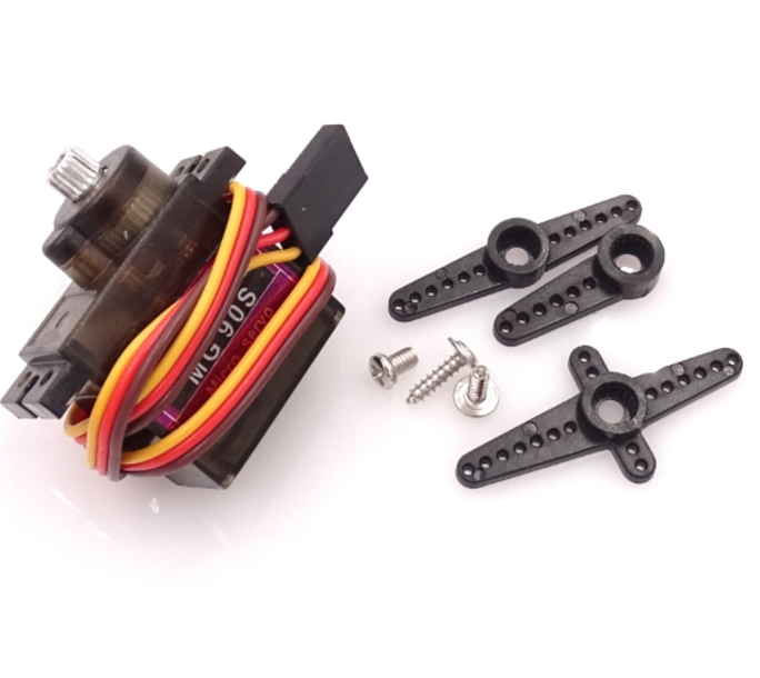 Free shipping 10sets Metal gear Digital MG90S 9g Servo Upgraded SG90 For Rc Helicopter plane boat car MG90 9G