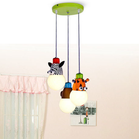 childrens pendant lighting. Creative Girls/boys Cartoon Animals Children Bedroom Pendant Lights Lamps With E27 Bulbs Sleeping Room Childrens Lighting 2