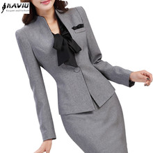Work wear fashion women's clothes slim long-sleeve blazer with pants office ladies formal OL pants suit plus size jacket set