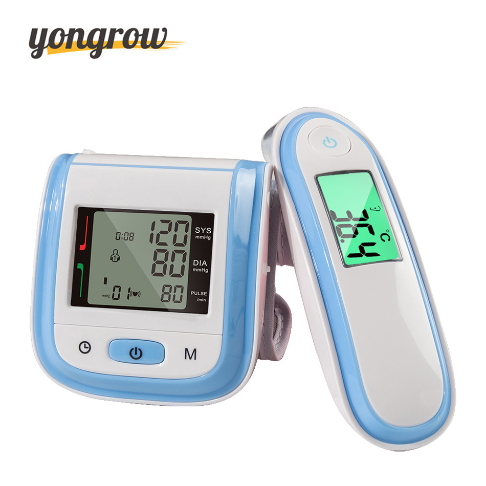 Yongrow Blood Pressure Monitor Sphygmomanometer Digital Infrared Ear Thermometer Tonometer Wrist Blood Pressure Monitor homeleader 7 in 1 multi use pressure cooker stainless instant pressure led pot digital electric multicooker slow rice soup fogao