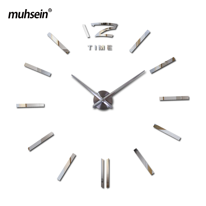 2020 muhsein 3d reloj nuevo metal moderno reloj de pared espejo de - Decoración del hogar