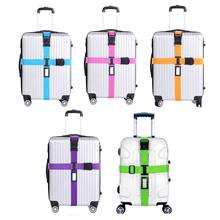 Top Quality Luggage Strap Cross Belt Packing Adjustable Travel Suitcase Nylon 3 Digits Password Lock Buckle Strap Baggage Belts naturehike 3 dial tsa security lock strap nylon adjustable customs luggage strap travel suitcase belt cross packing and cord