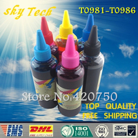 Dye refill ink Suit for Epson T0981 - T0986  cartridges , Quality ink suit for Epson  Artisan 600 700 800 710 810