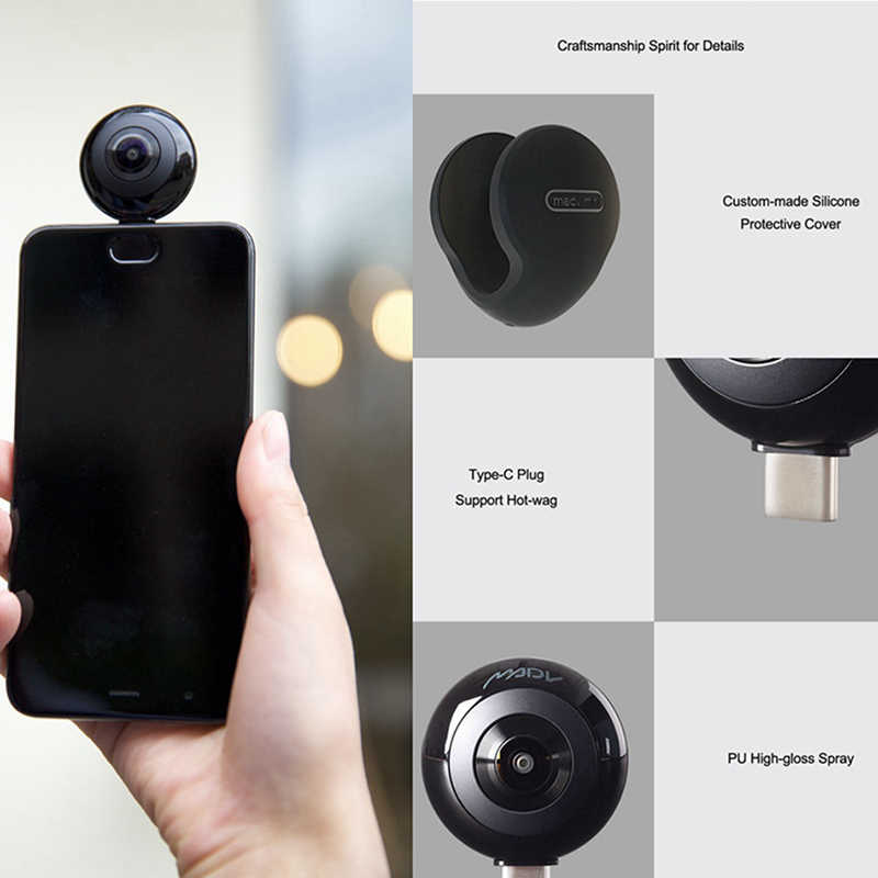 61ae973a33c973 ... Xiaomi MADV Mini Panorama Camera Double 13 Millions Lens 360Panoramic  APP Live Broadcast 5.5K HD ...
