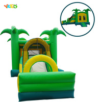 Inflatable Jungle Tree Jumper Bouncer Bounce House Combo with Slide