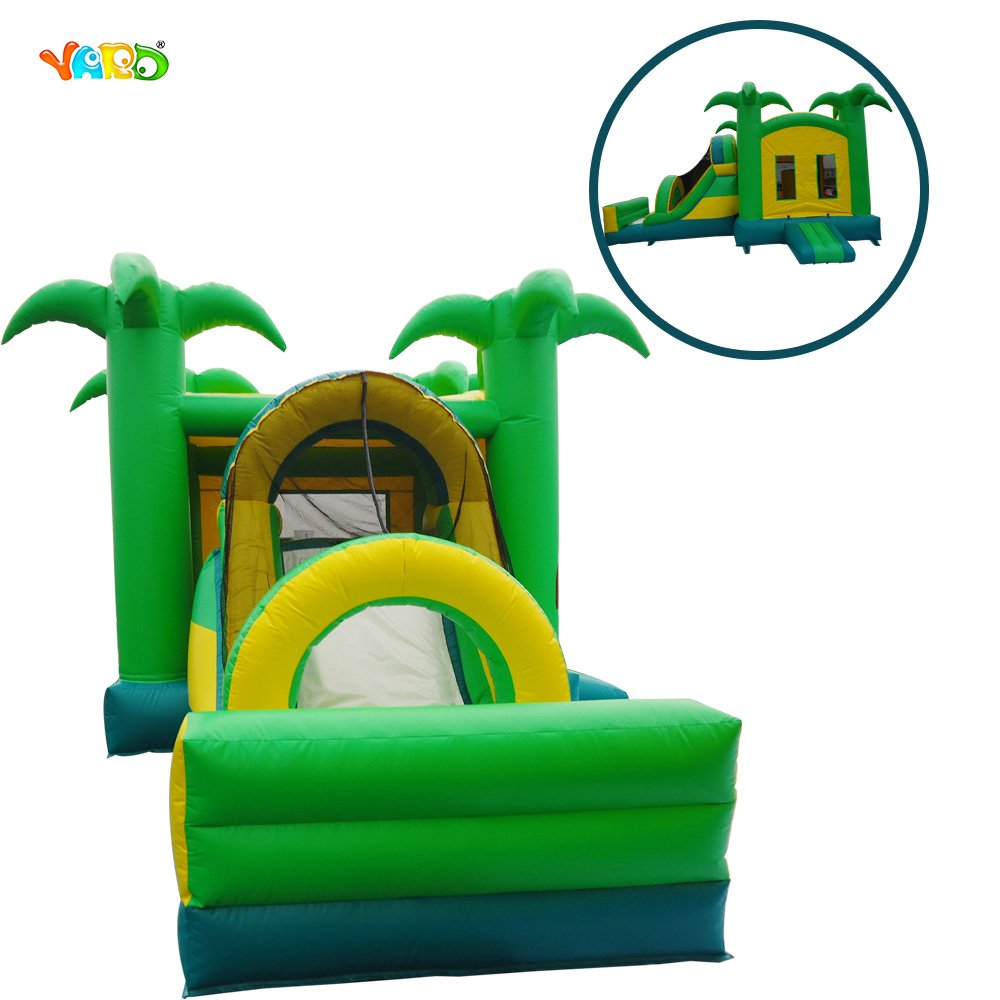 Inflatable Jungle Tree Jumper Bouncer Bounce House Combo with Slide kids inflatable bounce house jumper bouncer jump bouncy castle water slide