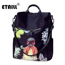 2016 новинка Национальный стиль цветок печати рюкзак женские рюкзаки для подростков модная одежда для девочек школы путешествия SAC DOS