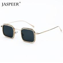 JASPEER Classic Diamond Polarized Sunglasses 2019 Square Women Sun Glasses Vintage Alloy Frame Men UV400 Eyeglasses