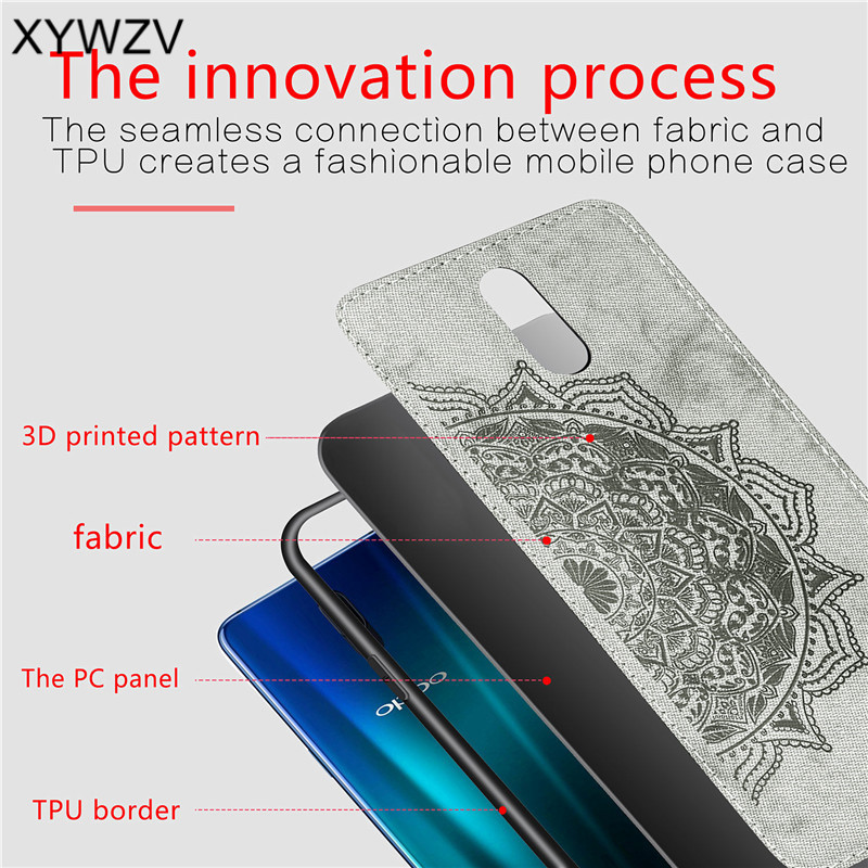 Image 5 - For OPPO R17 Case Shockproof Cover Soft Rubber Silicone Luxury Cloth Texture Phone Case For OPPO R17 Cover For OPPO R17 6.4 inch-in Fitted Cases from Cellphones & Telecommunications