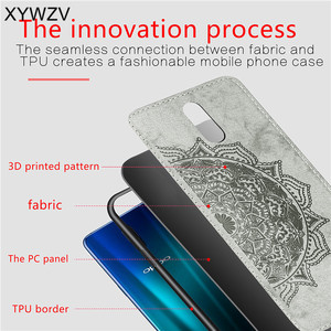 Image 5 - For OPPO R17 Case Shockproof Cover Soft Rubber Silicone Luxury Cloth Texture Phone Case For OPPO R17 Cover For OPPO R17 6.4 inch