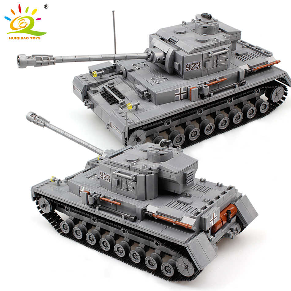 1193pcs Military Series Large Panzer Tank Building Blocks Legoing Tank Army City Enlighten Bricks Toys For Children