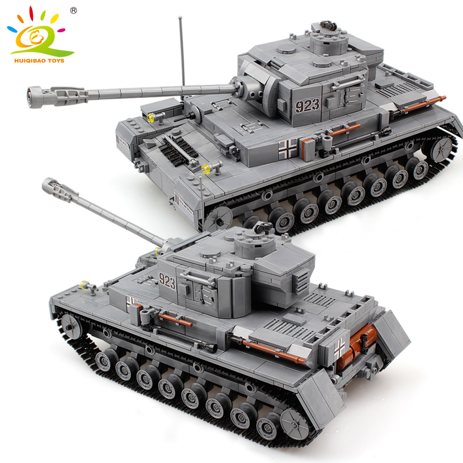 1193pcs Military Series Large Panzer Tank Building Blocks Legoing Tank Army City Enlighten Bricks Toys For Children
