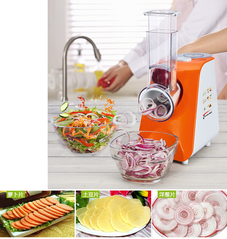 Multifunctional Vegetable Cutter potato fruit slicing cutting machine salad 150W 220V portable salad vegetable fruit scissors
