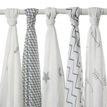 120x120cm 100% Muslin хлопок Baby Swaddling одеяло, новорожденный младенец пеленки полотенце