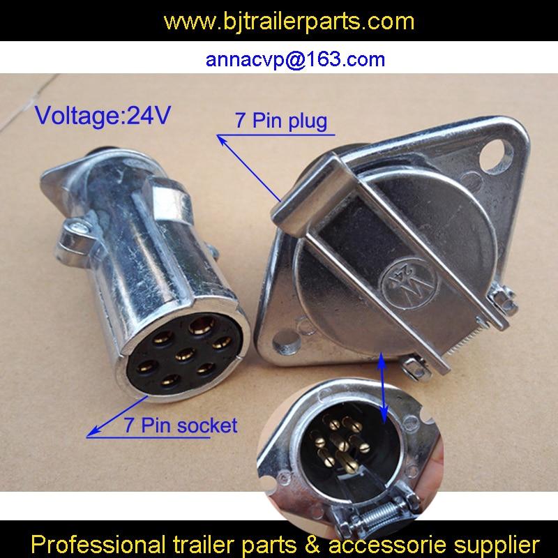 7 pin tow bar plug 7 pole trailer caravan 12v metal male QUALITY 12N wiring car