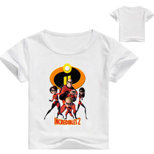 The Incredibles 2 Baby Boys T Shirt Kids Cartoon Short Sleeves Children T-Shirt Clothes