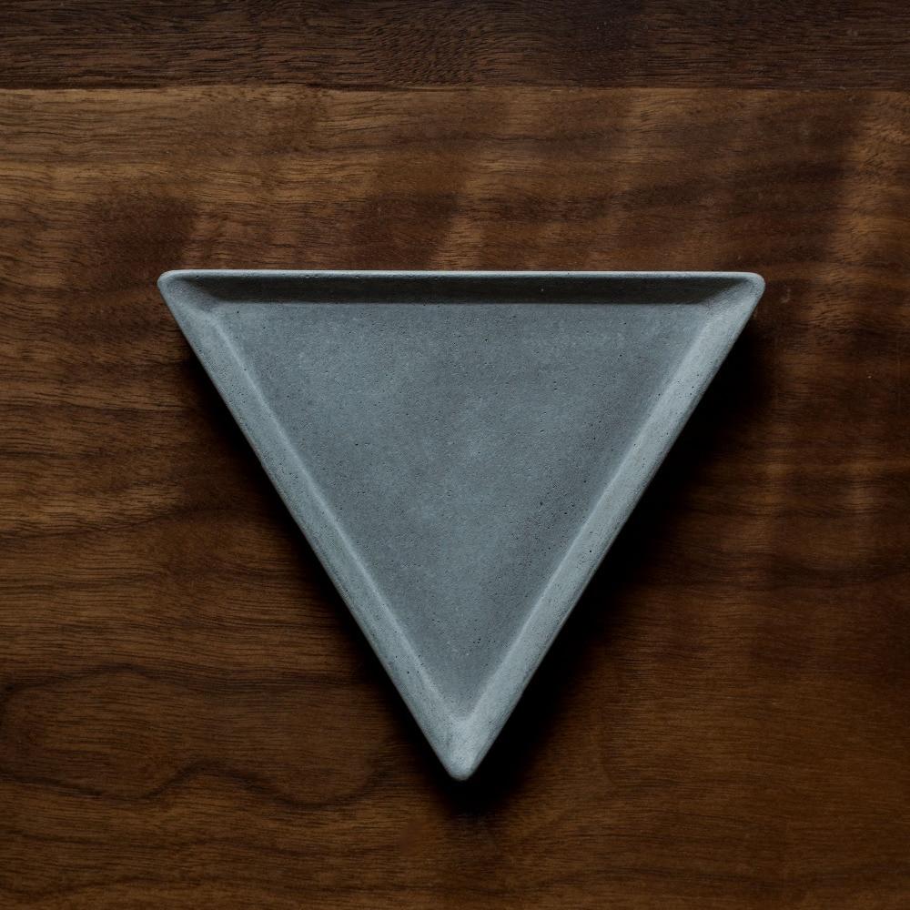 Silikagel silikonové formy trojúhelník Cementová deska pohár ovocné talíře voda betonová mísa ručně vyráběná forma