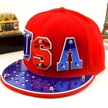 2017 Cotton Adult Snapback Baseball Caps Gorras Planas bone aba reta Fashion Hip-hop Hat for men and women hats USA punk caps