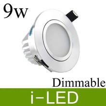 Новое поступление Led Cob направленный с подсветкой 9 w Светодиодный точечный светильник для крепления заподлицо светодиодные лампы AC90-260v или 12 V CRI85 в серебряном корпусе+ светодиодный драйвер UL и CE
