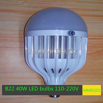New High Power B22 40W LED bulbs 5730 SMD Led Lamp AC110V-240V 40W Epistar 5730 SMD Light Led Spot Free Shipping