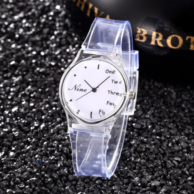 Fashion White Women's Watches Casual Transparent Soft Silicone Watch Reloj Mujer Ladies Wristwatch Relogio Feminino Female Clock