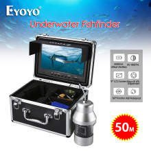 Eyoyo Fishing camera 1000TVL 360 degree rotating 18pcs led lights fish finder waterproof IP68 9inch LCD monitor Free Ship