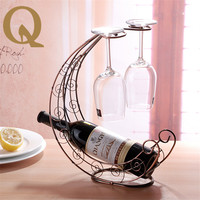 2017 the most popular European style metal decorative wine rack hanging wine rack fashion accessories wine cup rack wine rack