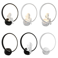 Personality lovely angel bedroom bedside lamp led wall lamp Nordic modern simple corridor creative bedside lamp