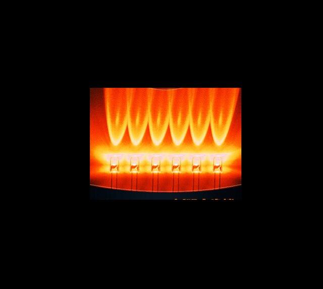 Прозрачный Через Отверстие 5 ММ Orange Свечи Мерцание Светодиода