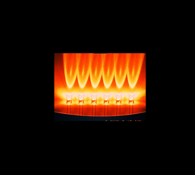 Water Clear Through Hole 5MM Orange Candle Flickering LED Diode