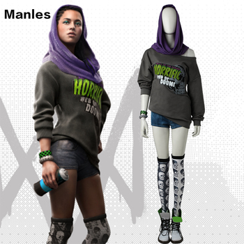 Watch Dogs 2 Sitara Cosplay Costume Sitara Sexy Suit Halloween Costume Dedsec Clothes Adult Women Girls With Shoes Custom Made