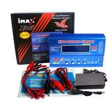 Imax B6 12v 배터리 충전기 80W Lipro 밸런스 충전기 NiMh 리튬 이온 Ni Cd 디지털 RC 충전기 12v 6A 전원 어댑터 EU/US 충전기