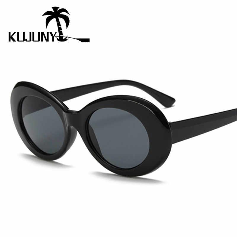 2c4399eb80 ... KUJUNY Clout Goggles NIRVANA Kurt Cobain Round Sunglasses Men Women  Brand Designer Sun Glasses Female Male ...