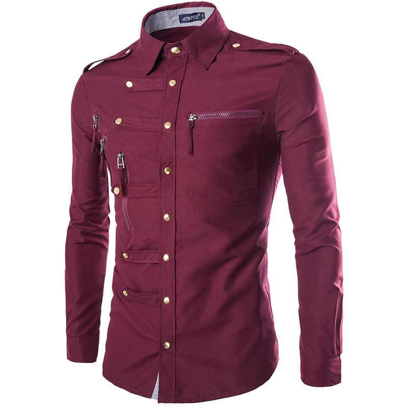 Брендовая мужская рубашка 2015 модный дизайн Мужская s приталенная хлопковая рубашка стильная рубашка с длинным рукавом рубашка Homme Camisa Masculina
